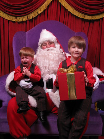 Santa Pictures Both Boys 2010