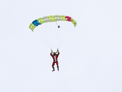 Santa Skydiving event at William H. Morse State Airport. 120316