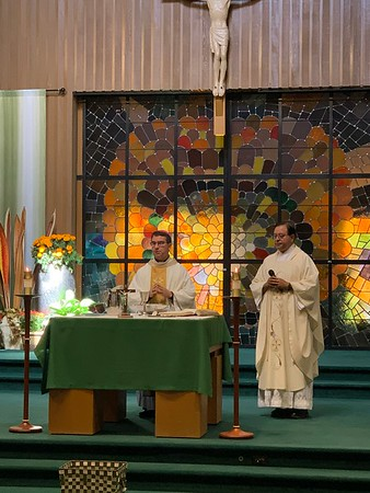 St. Teresa of Avila Feast day with Bishop Cantú and Fr. Aranha