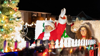 Santa Visits Logan Elm Village