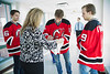 NHL team, New Jersey Devils, visit Holy Name Medical Center. 12/16/13. Photo by Victoria Matthews