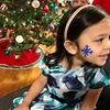 Emma Oliveri, age 3-1/2, shows off her snowflake. Photo by Mary Leach