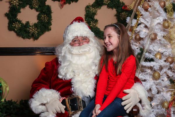 Emily with Santa