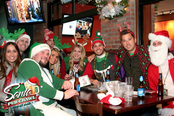Santacon Royal Oak Pub Crawl