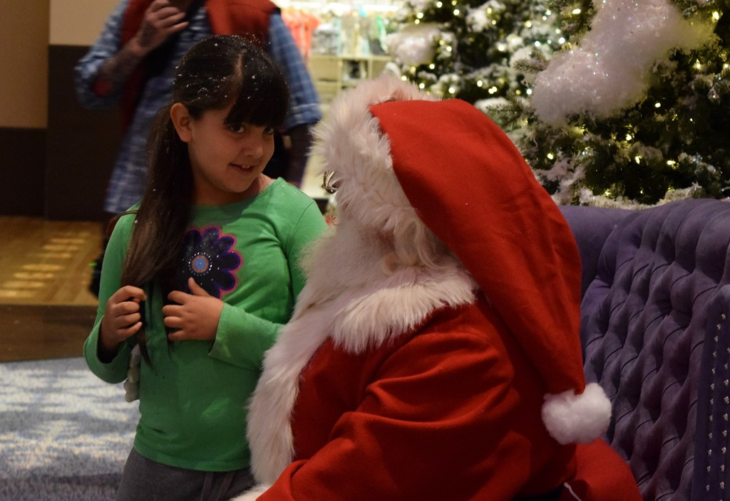 . Sixty kids from Auburn Elementary in Auburn Hills walk through the Santa�s Flight Academy at Great Lakes Crossing Outlets on Thursday, Nov. 9, 2017.