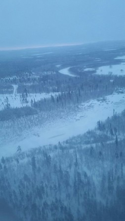 Our first glimpse of Lapland just like in Merry Christmas Everyone by Shakin Stevens.