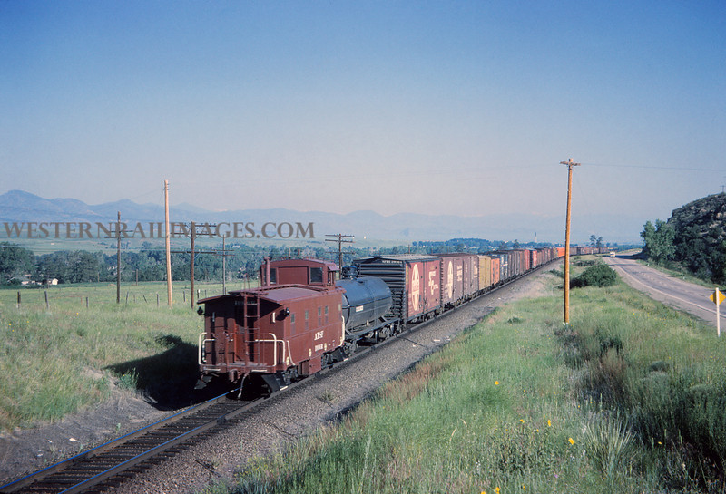 ATSF 35 - Jul 2 1965 - northbound freight N of Sedalia Colo - Jim Ozment
