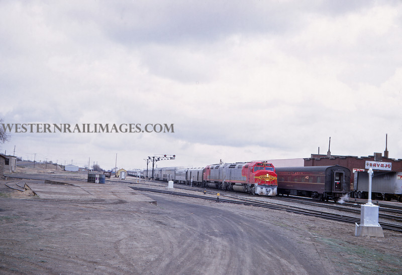ATSF 92 - Apr 27 1968 - EB Chief No 20 westbound Super Chief - El Capitan @ Trinidad Colo - Jim Ozment