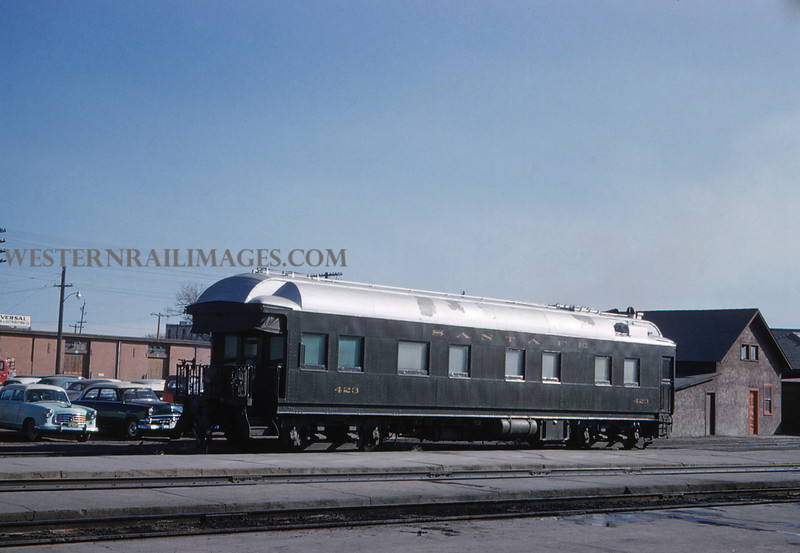 ATSF 16 - Dec 31 1959 - Business Car 423 @ Pueblo Colo - Jim Ozment