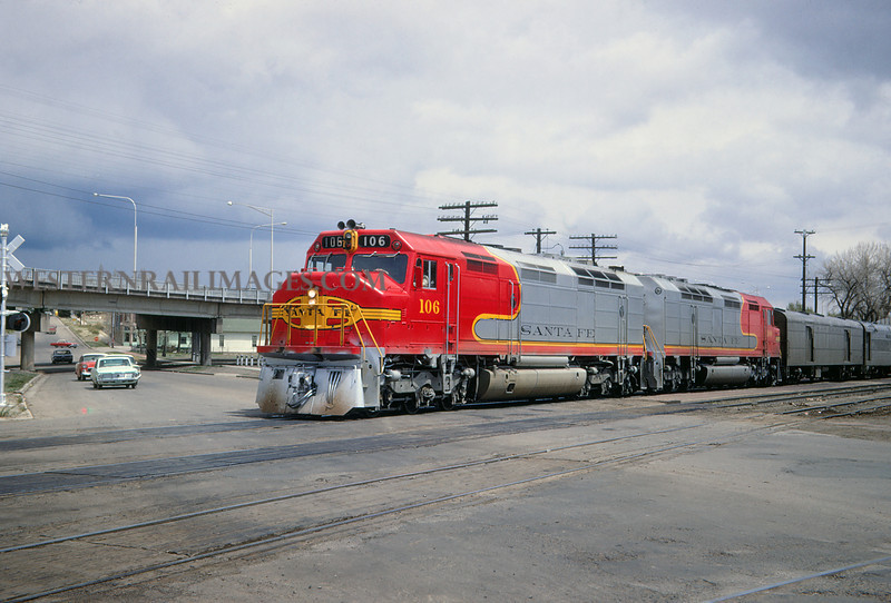 ATSF 94 - Apr 27 1968 - No 106 on Super Chief @ Trinidad Colo - Jim Ozment