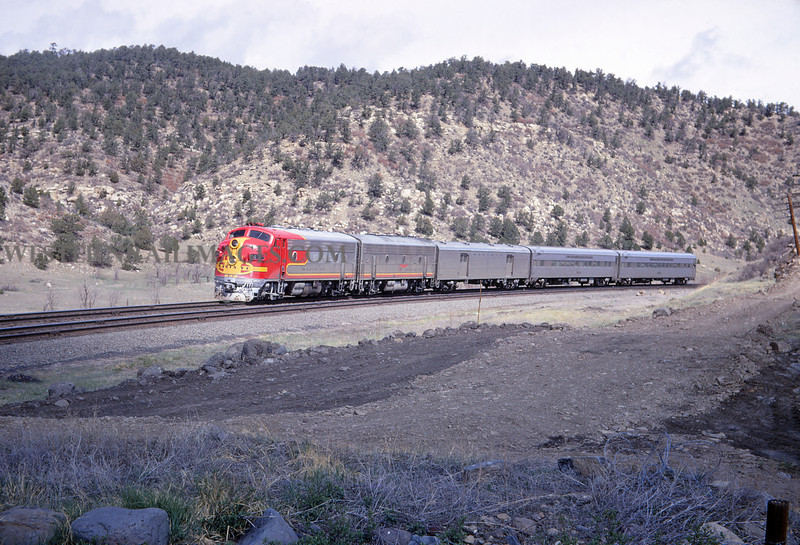 ATSF 85 - Apr 27 1968 - Westbound No 23 Eng 44 West of Starkville Colo - Jim Ozment