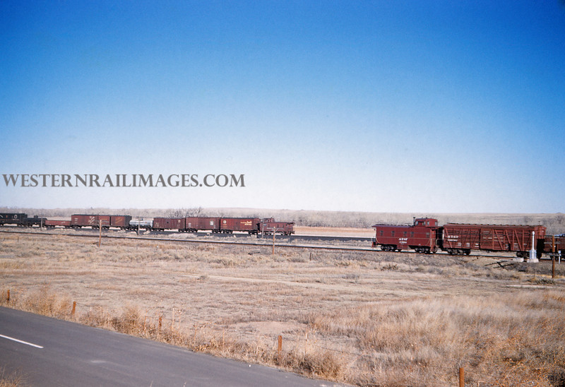 ATSF 14 - Dec 29 1959 - Southbound between Pinon & Pueblo Colo - Jim Ozment