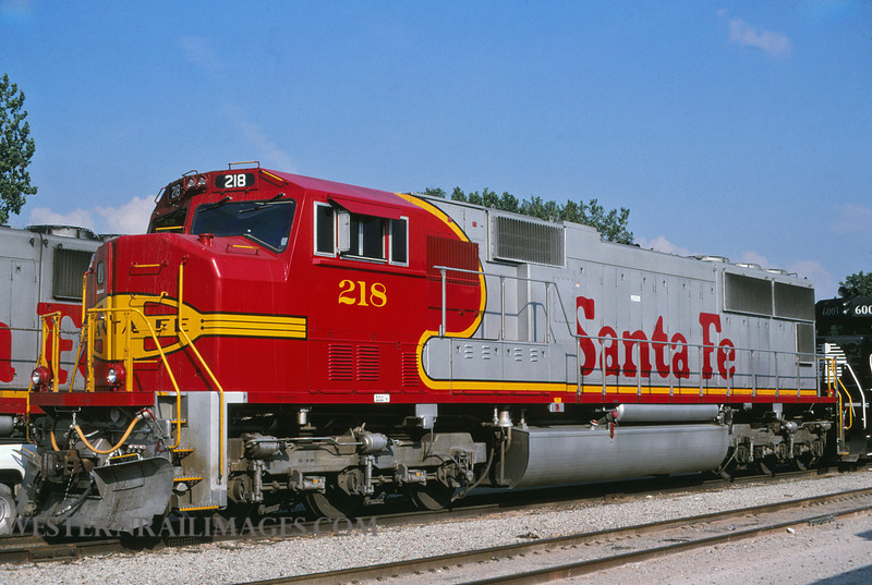 ATSF 160 - July 13 1996 - SD75M no 218 @ Kansas City MO - by L Coone