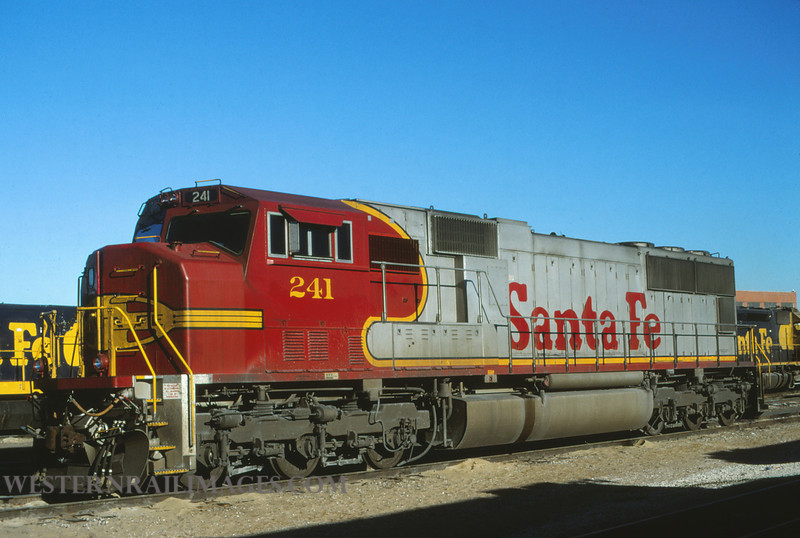 ATSF 186 - Dec 24 1996 -  no 241 SD75M @ Kansas City KS - by L Coone