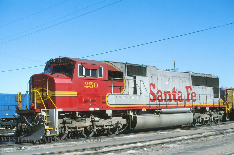 ATSF 192 - Feb 4 1996 - no 250 SD75M @ Kansas City KS - by L Coone