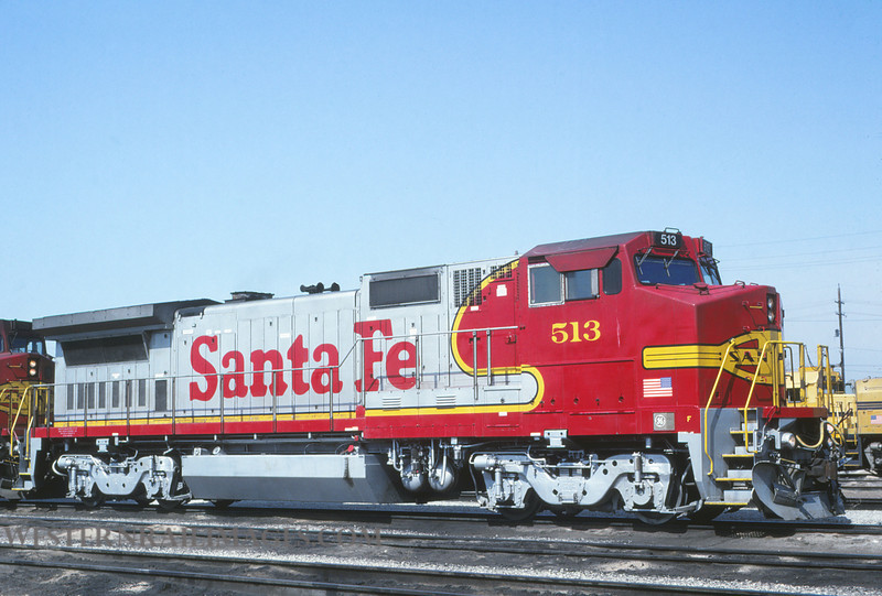 ATSF 283 - March 20 1992 - no 513 @ Kansas City KS - by L Coone
