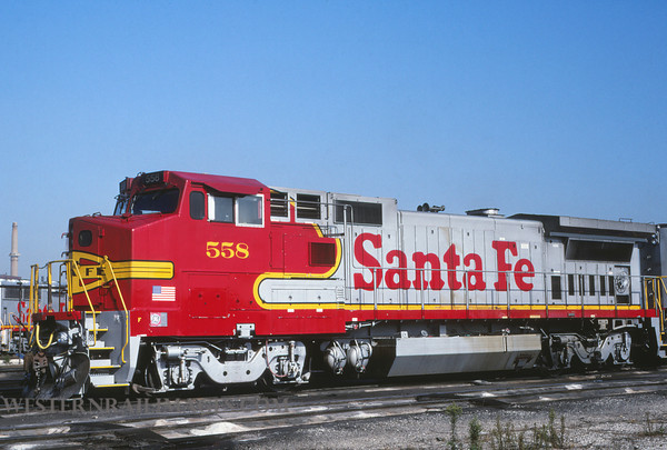 ATSF 413 - Sep 25 1992 - no 558 @ Chicago Ill by L Coone
