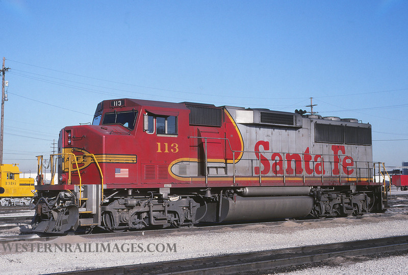 ATSF 30 - Jan 22 1992 - GP60 no 113 @ Kansas City KS - by L Coone