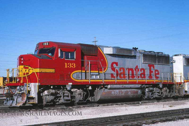 ATSF 77 - Sept 19 1994 - GP60 no 133 @ Kansas City KS - by L Coone
