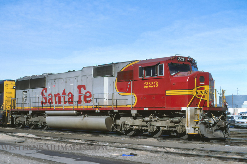 ATSF 166 - Jan 17 1997 - SD75M no 223 @ Kansas City KS - by L Coone