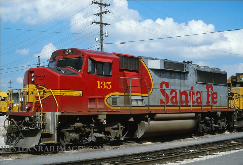 ATSF 82 - Aug 20 1996 - GP60 no 135 @ Kansas City KS - by L Coone