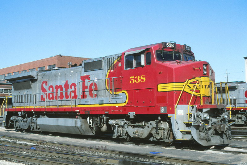ATSF 364 - Feb 4 1996 - no 538 @ Kansas City KS - by L Coone