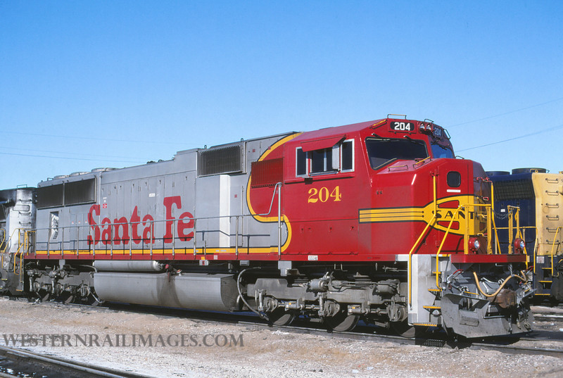 ATSF 138 - Nov 10 1995 - no 204 @ Kansas City KS - by L Coone