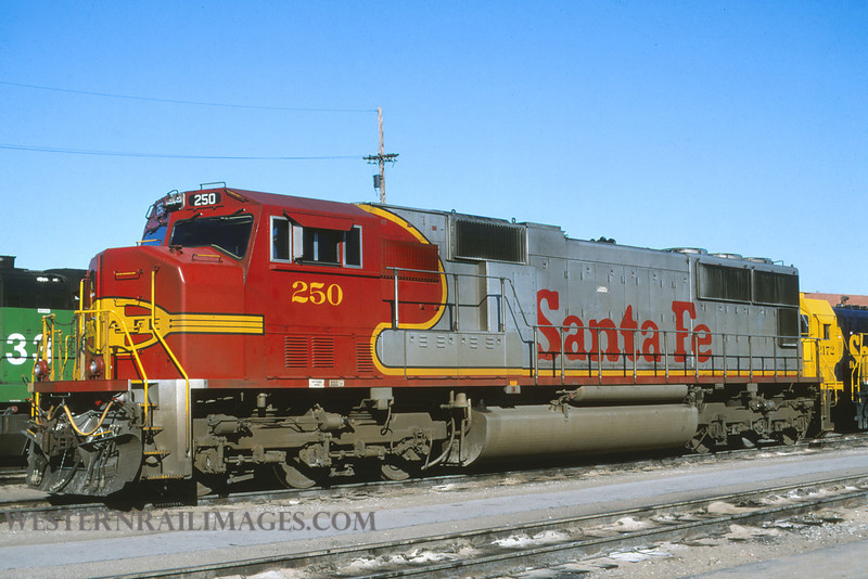 ATSF 193 - Sept 17 1996 - no 250 SD75M @ Kansas City KS - by L Coone