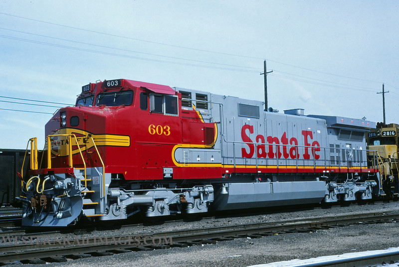 ATSF 521 - Feb 27 1994 - no 603 @ Kansas City KS by L Coone