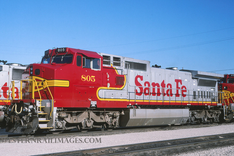 ATSF 732 - Nov 11 1993 - loco 805 @ Kansas City KS by L Coone