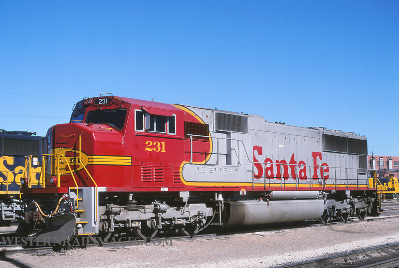 ATSf 175 - Oct 19 1995 - SD70M no 231 @ Kansas City KS - by L Coone