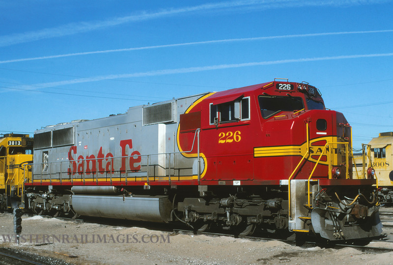 ATSF 170 - Feb 11 1996 - SD75M no 226 @ Kansas City KS - by L Coone