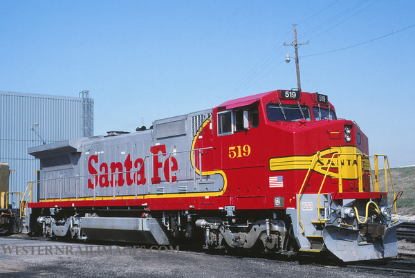ATSF 317 - March 12 1992 - no 519 @ Kansas City KS - by L Coone