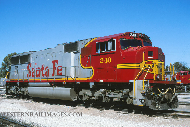 ATSF 184 - Sept 9 1996 - no 240 SD75M @ Kansas City KS - by L Coone