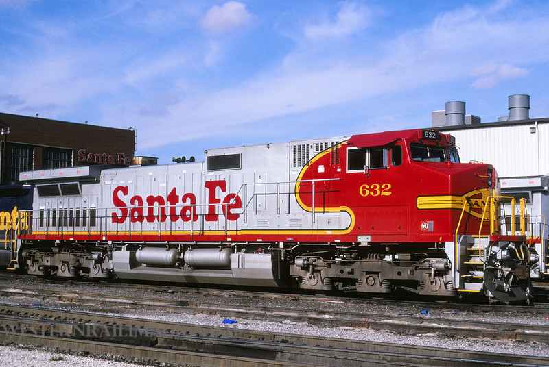 ATSF 624 - Nov 11 1994 - loco 632 @ Kansas City KS by L Coone