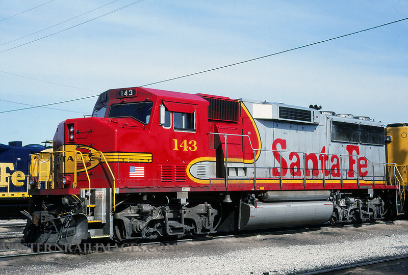 ATSF 97 - Mar 10 1992 - GP60M no 143 @ Kansas City KS - by L Coone