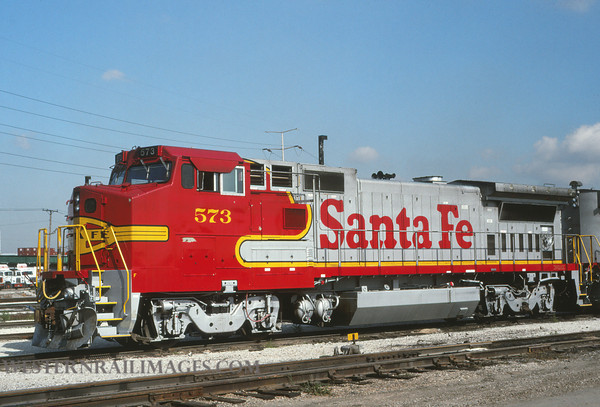 ATSF 451 - Sep 2 1992 - no 573 @ Chicago Ill - by L Coone