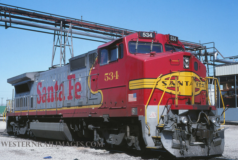 ATSF 353 - March 15 1992 - no 534 @ Kansas City KS - by L Coone