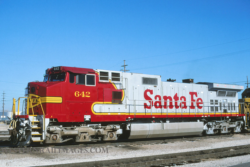 ATSF 642 - Nov 11 1996 - loco 642 @ Kansas City KS by L Coone