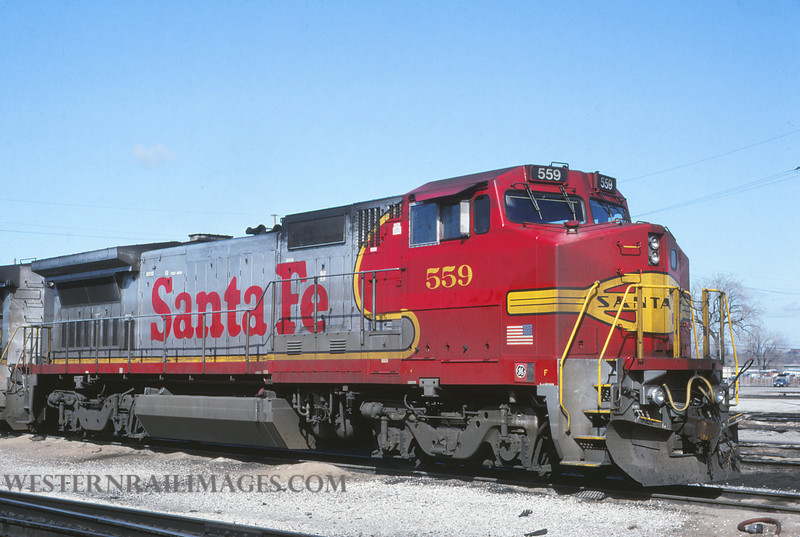ATSF 416 - Feb 26 1992 - no 559 @ Kansas City KS - by L Coone