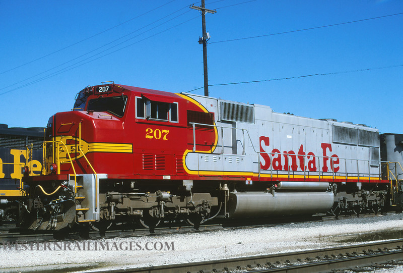 ATSF 144 - Aug 12 1996 - no 207 SD75M @ Kansas City KS - by L Coone