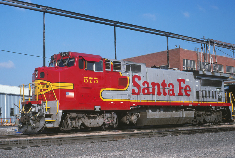 ATSF 456 - Sep 18 1993 - no 575 @ Kansas City KS - by L Coone