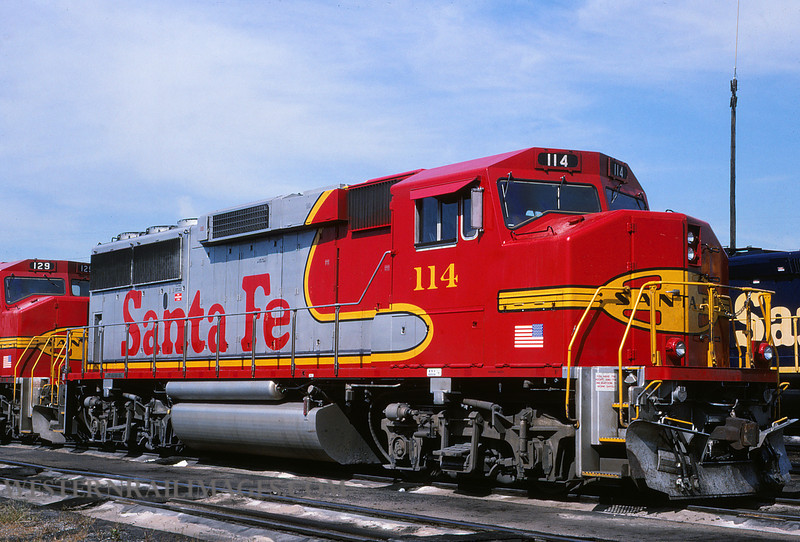 ATSF 31 - Aug 1 1991 - GP60 no 114 @ Chicago Ill - by L Coone