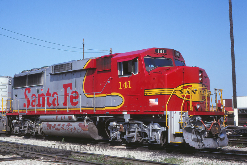 ATSF 93 - July 18 1992 - GP60M no 141 @ Chicago Ill - by L Coone