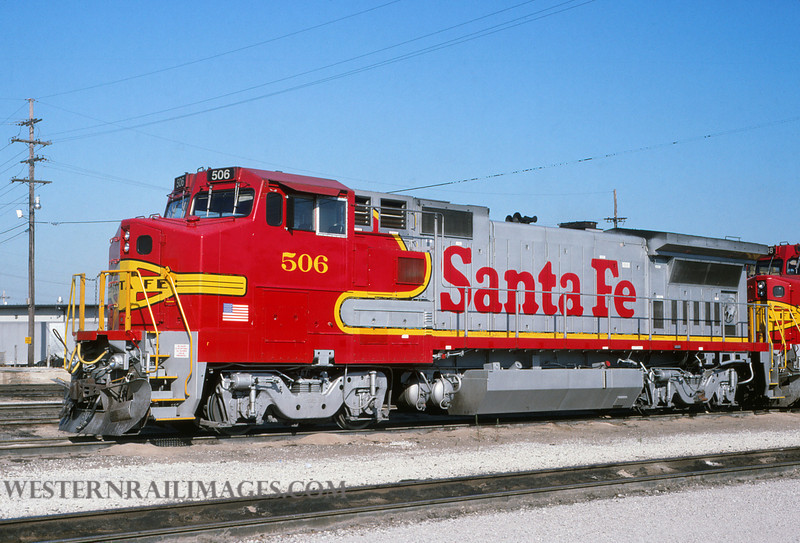 ATSF 265 - Oct 1 1993 - no 506 @ Kansas City KS - by L Coone