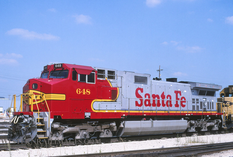 ATSF 649 - Sept 6 1997 - loco 648 @ Kansas City KS - by L Coone