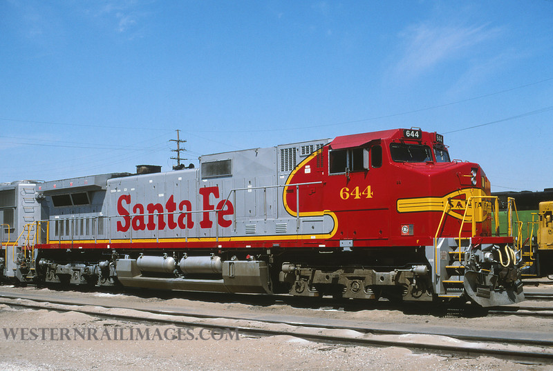 ATSF 598 - Mar 27 1996 - loco 644 @ Kansas City KS by L Coone