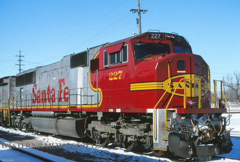 ATSF 167 - Jan 7 1996 - SD75M no 227 @ Kansas City KS - by L Coone