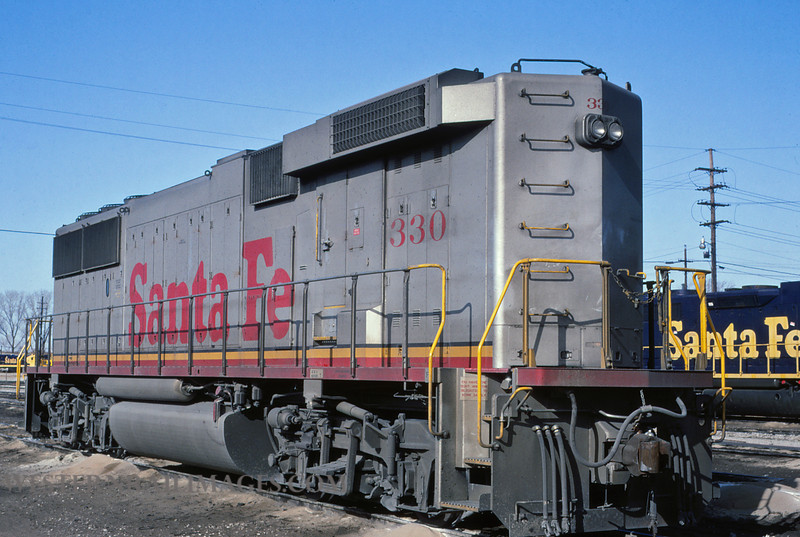 ATSF 206 - Jan 21 1992 - no 300 @ Kansas City KS - by L Coone