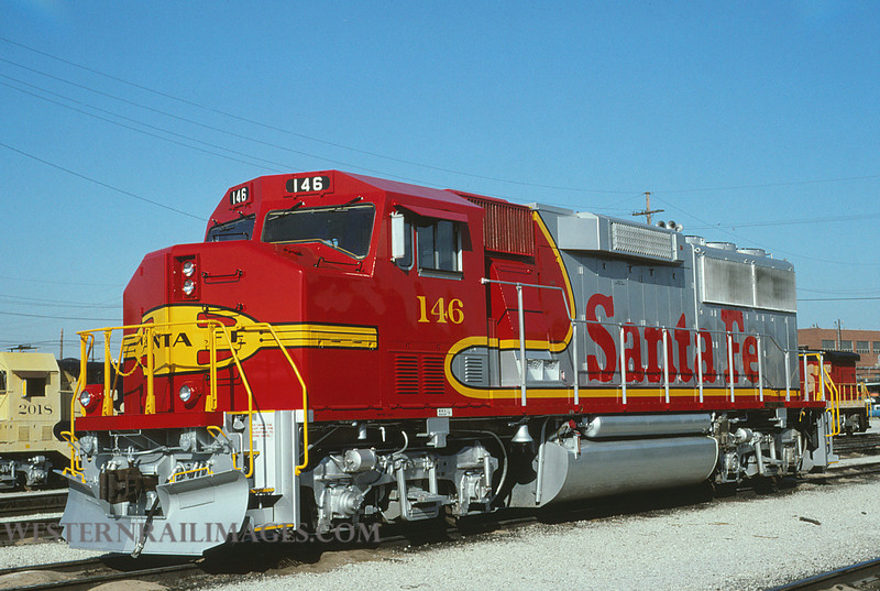 ATSF 114 - Aug 12 1990 - GP60M no 146 @ Kansas City KS - by L Coone